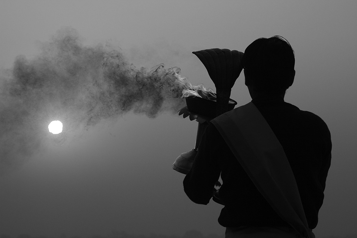 Banaras 09 by Arunkumar Mishra, Image Photography, Digital Print on Paper, Gray color