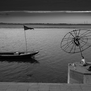 Banaras 31 by Arunkumar Mishra, Image Photograph, Digital Print on Paper, Gray color