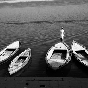 Banaras 32 by Arunkumar Mishra, Image Photograph, Digital Print on Paper, Gray color