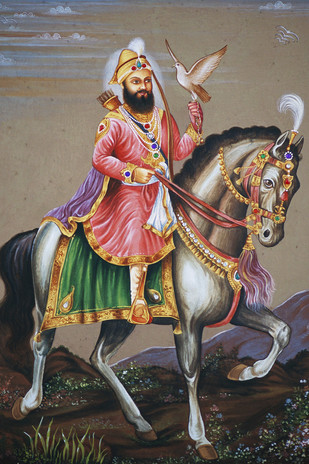 Miniature 04 by Bhagwandas Rupani, Impressionism Painting, Digital Print on Paper, Brown color