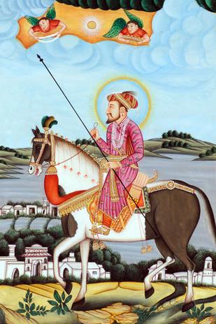 Miniature 05 by Bhagwandas Rupani, Image Painting, Digital Print on Paper, Brown color