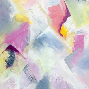 Untitled (Titanium - 3) by Tarini Ahuja, Abstract Painting, Acrylic on Canvas, Pink color