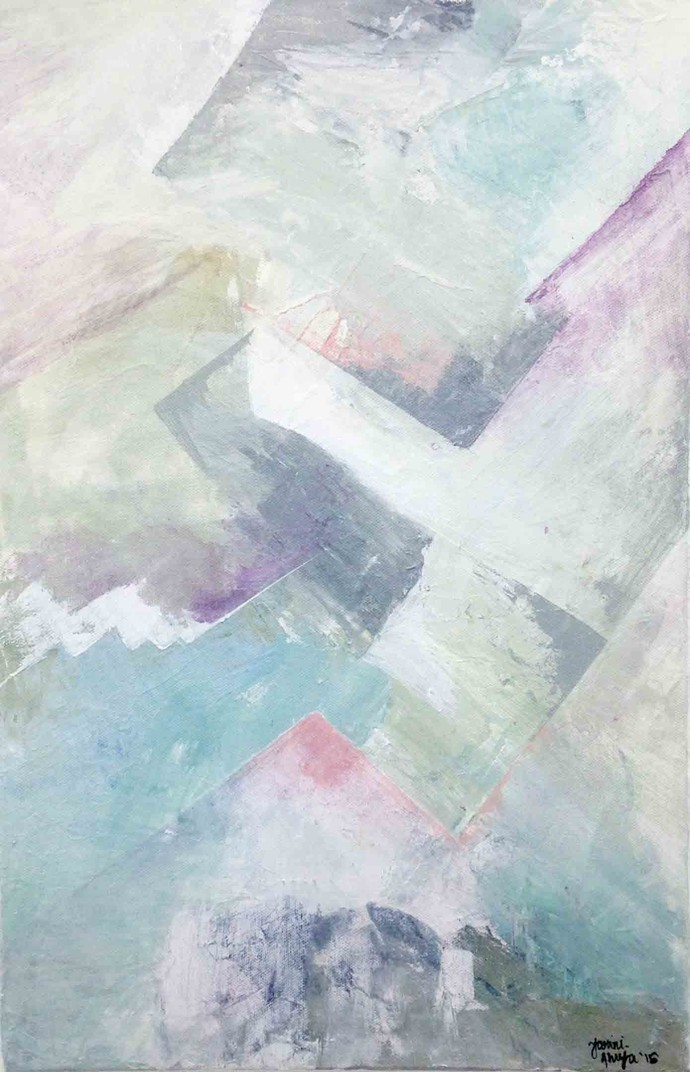 Untitled by Tarini Ahuja, Abstract Painting, Acrylic on Canvas, Gray color