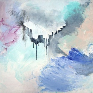 Light 2 by Tarini Ahuja, Abstract Painting, Acrylic on Canvas, Cyan color