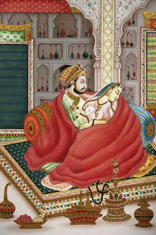 Miniature 34 by Bhagwandas Rupani, Image Painting, Digital Print on Paper, Brown color