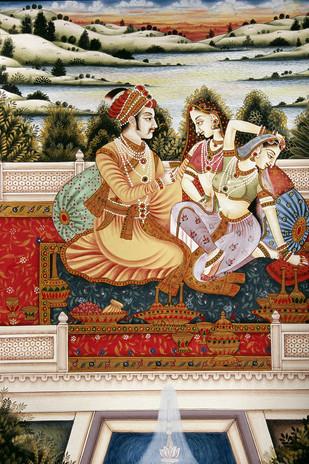 Miniature 35 by Bhagwandas Rupani, Image Painting, Digital Print on Paper, Brown color