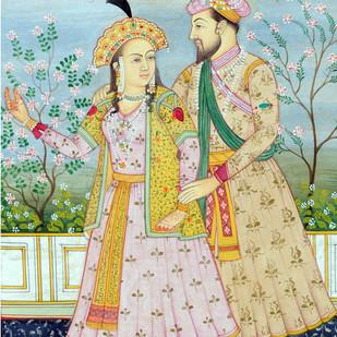Miniature 36 by Bhagwandas Rupani, Image Painting, Digital Print on Paper, Beige color