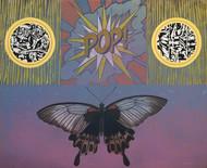 POP by JOYDIP SENGUPTA, Pop Art Painting, Acrylic on Canvas, Brown color