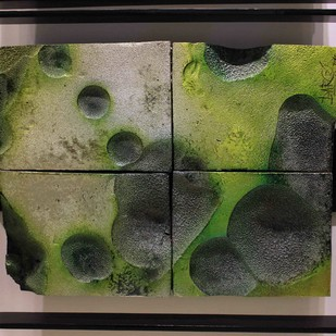 Sea Bed by P R Daroz, Abstract Sculpture | 3D, Ceramic, Green color
