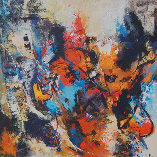 UNTITLED (PASSIONATE EXPRESSIONS SERIES) No. 295 by MOLLIE MANN, Abstract Painting, Acrylic on Canvas, Brown color