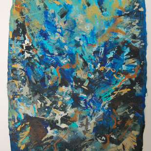 UNTITLED (PASSIONATE EXPRESSIONS SERIES) No. 101 by MOLLIE MANN, Abstract Painting, Acrylic & Ink on Paper, Green color