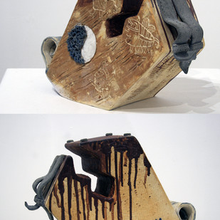 Urban Ghetto by Srinia Chowdhury, Art Deco Sculpture | 3D, Ceramic, Gray color