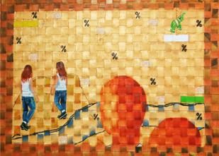 Green Ribbon 3 Digital Print by riddhima sharraf,Fantasy