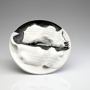 Achrome 2 by Rahul Kumar, Art Deco Sculpture, Ceramic, Gray color