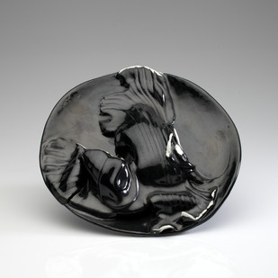Achrome 5 by Rahul Kumar, Art Deco Sculpture, Ceramic, Gray color