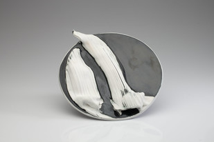 Achrome 18 by Rahul Kumar, Art Deco Sculpture, Ceramic, Gray color