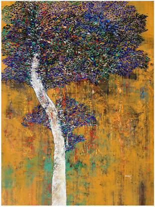 Tree of Life by Bhaskara Rao Botcha, Impressionism Painting, Acrylic on Canvas,