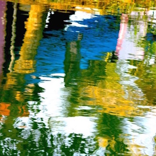 Waterline 1 by Saba Hasan, Image Photograph, Digital Print on Archival Paper, Green color