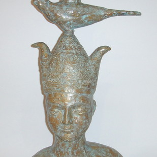 Balance by Sakti Burman, Art Deco Sculpture, Bronze, Gray color