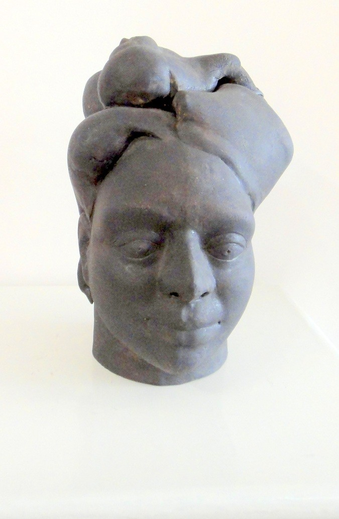 Homeland on the mind, 2012. Ceramic, Slip made with earth, ash & oxides of India, epoxy by Trupti Patel, Art Deco Sculpture, Ceramic, Gray color