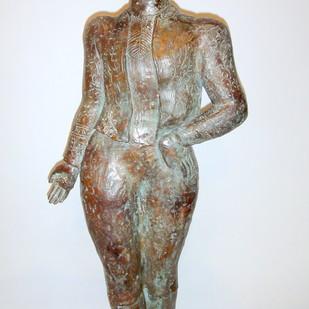 Onlooker by Sakti Burman, Art Deco Sculpture, Bronze, Gray color