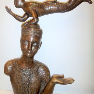 Untitled by Sakti Burman, Art Deco Sculpture, Bronze, Gray color