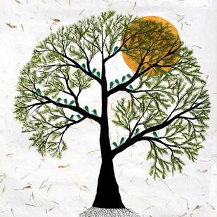 Priya Vriksh by Sumit Mehndiratta, Decorative Painting, Acrylic & Ink on Paper,