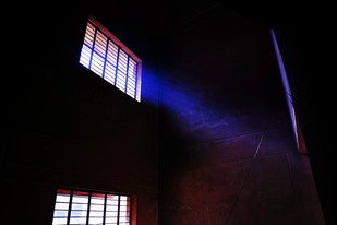 The rays of light by Krishnendu Chatterjee, Image Photograph, Digital Print on Archival Paper, Black color