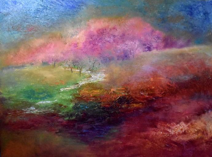 Spring in the Mountains! Digital Print by Prenita Dutt,Impressionism
