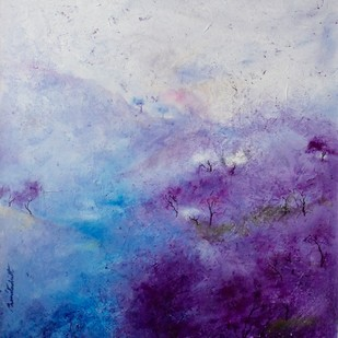 Mauve and White Digital Print by Prenita Dutt,Impressionism