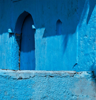 Shadow by Dipak Asole, Image Photograph, Digital Print on Canvas, Blue color