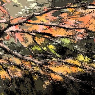 Nature's Palette... by Maanas Lal, Digital Digital Art, Mixed Media on Canvas, Brown color