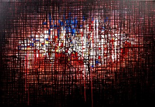 UNTITLED 2 by Pankaj Kumar Singh, Abstract Painting, Acrylic on Canvas, Brown color