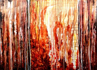 Untitled by Pankaj Kumar Singh, Abstract Painting, Acrylic on Canvas, Brown color