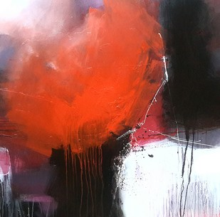 Untitled by Gulrez Ali, Abstract Painting, Acrylic on Canvas, Gray color
