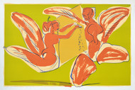 Ethereal by Jatin Das, Expressionism Serigraph, Serigraph on Paper, Beige color