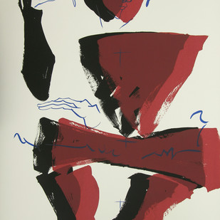 The Presence by Jatin Das, Expressionism Serigraph, Serigraph on Paper, Beige color
