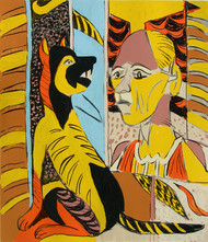 Untitled by K. G. Subramanyan , Expressionism Serigraph, Serigraph on Paper, Brown color