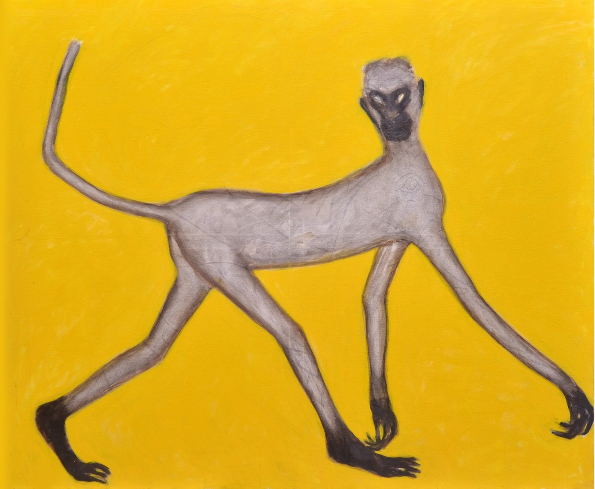 Mann-Ki by Amit Ambalal, Decorative Serigraph, Serigraph on Paper, Yellow color