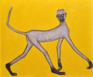 Mann-Ki by Amit Ambalal, Decorative Serigraph, Serigraph on Paper, Yellow color