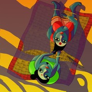 Uthon 1 by Adhijit Bhakta, Digital Digital Art, Digital Print on Canvas, Brown color