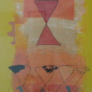 Untitled V by Harsha Vardhana S, Abstract Painting, Mixed Media on Paper, Brown color