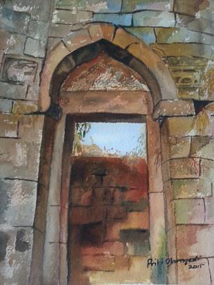way to... Digital Print by Priti Dhongadi,Impressionism