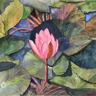 waterlily Digital Print by Priti Dhongadi,Impressionism
