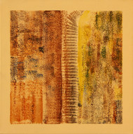 Untitled by Suneet Ghildial, Abstract Painting, Acrylic on Canvas, Brown color