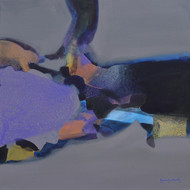 Untitled by Ravindra Parkhi, Abstract Painting, Mixed Media on Canvas, Blue color