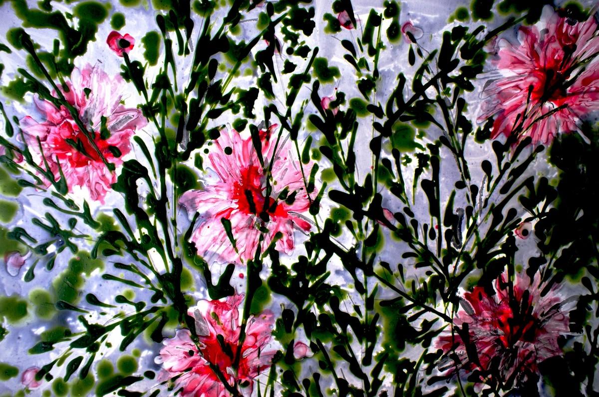 IMAGINATIVE BLOOMS Digital Print by Baljit Singh Chadha,Impressionism