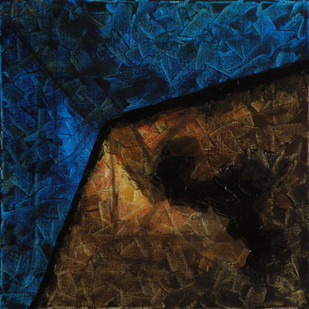 Untitled by Jaikishan Tada, Abstract Painting, Acrylic on Canvas, Blue color