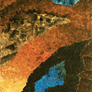 Fractal Dimensions . The Disposition by Jaikishan Tada, Abstract Painting, Acrylic on Canvas, Brown color