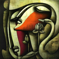 A Love So Deep by Jagannath Paul, Decorative Painting, Mixed Media on Canvas,